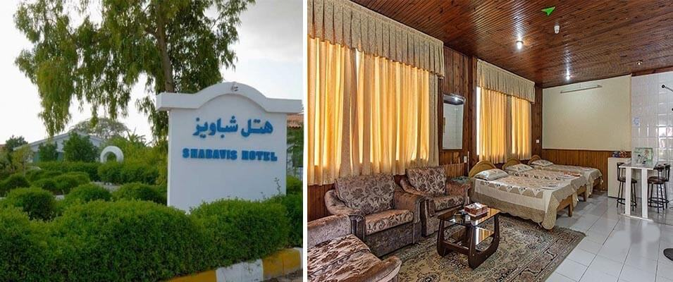 هتل دو ستاره شباویز کیش از بهترین هتل ارزان کیش