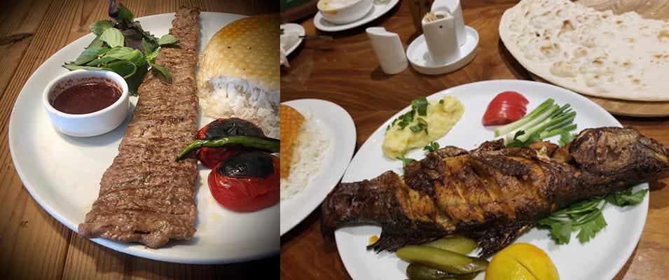 منوی رستوران دارچین در کیش